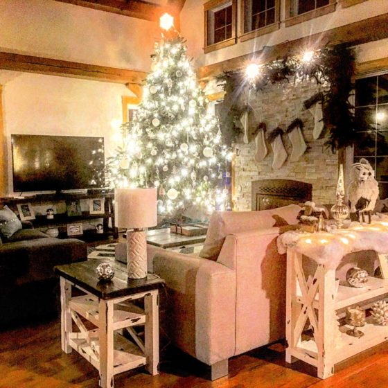 Christmas inspired living room